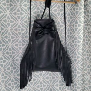 Victoria's Secret Black Fringe Backpack